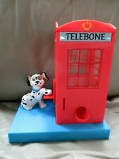 VINTAGE TELEPHONE BOOTH GUMBALL MACHINE COIN BANK WITH DAMATION PLASTIC