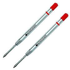 2 x Parker Style Pen Gel Refills - RED ink, Fine Tip, Ballpoint Made in Japan