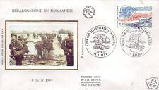 2887 FDC ENVELOPPE 1er JOUR SOIE DEBARQUEMENT NORMANDIE