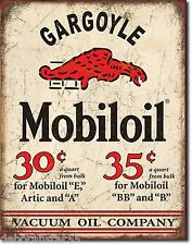 Large MOBILOIL GARGOYLE Vintage Retro Garage Oil Metal Tin Wall Sinage Sign 1897