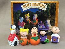 Peanuts Pumpkin Patch 5 Piece Set Hallmark Merry Miniatures Holiday 1996 Nip