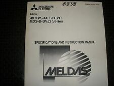 Mitsubishi Cnc Meldas Ac Servo Mds-B-Svj2 Specification & Instruction Manual