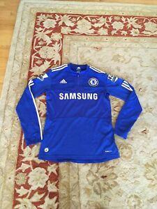 2009-10 Chelsea FC Home Shirt Drogba Adult Small Adidas