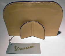 Vespa Leather Picture Frame Made in Italy SAND color