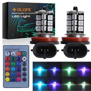 2x GLOFE H8/H11/H16 27SMD LED Fog Light Lamps Kit 6000K Ultra White Super Bright