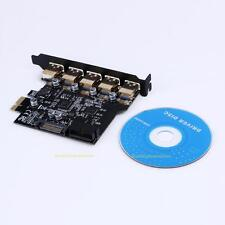 PCI-E to USB 3.0 5 Port PCI Express Expansion Card 19-Pin SATA Connector 5Gbps