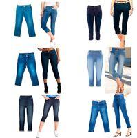 Ladies Women Cropped Denim Jeans Jegging Capri Trousers Stretch Cotton 3/4 Pant
