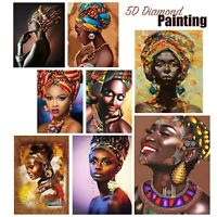 Lovely African Woman 5D Full Drill Diamond Painting DIY Cross Stitch Embroidery