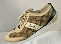 COACH Women's Baylee Signature C Suede Leather Fashion Sneakers Shoe Size 7M