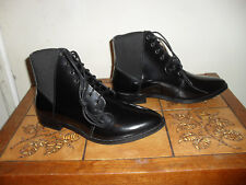 ASOS LADIES BLACK APPLE OF MY EYES LEATHER POINTED TOE ANKLE BOOTS SIZE UK 5 NEW