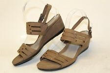 ECCO NEW MISMATCH L 41 / R 40 Touch 45 Womens Leather Wedge Sandals Shoes :rt