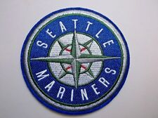 """Seattle Mariners Embroidered PATCH~3 1/2"""" Round~Iron Sew On~MLB~Ships FREE"""