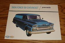 1958 Chevrolet Truck Task-Force Panels Sales Brochure 58 Chevy