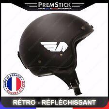 Kit 4 Stickers Retro Reflechissant Buell ref1; Casque Moto autocollant
