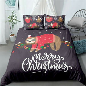 Christmas Sweater Sloth Single/Double/Queen/King Bed Doona/Duvet/Quilt Cover Set