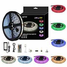 Waterproof Self Adhesive RGB LED Light Strip Kit w/ Remote & Power Supply (5m)
