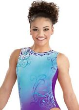 Laurie Hernandez Leotard Gk Elite gymnastics Whirl of Wonder Purple E3508 Sz: Am