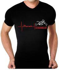 T-shirt maglia per moto DUCATI SCRAMBLER battito cuore TSHIRT maglietta