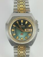 Vintage RICOH Automatic Watch 61355A Shockproof Unbreakable 21 J Japan Working