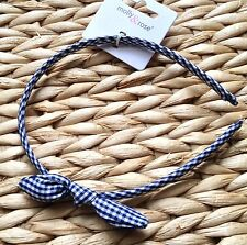 NEW COUNTRY GINGHAM CHECK MINI BOW KNOT FABRIC ALICE HAIR BAND HEADBAND SCHOOL