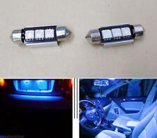 2x Blue LED License Plate Lights For Benz W208 W209 W203 W210 W211 W212 BMW