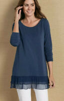 Soft Surroundings Style 29732 Dark Blue Not Your Everyday Tee Women's XS