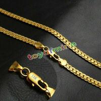 Donna Uomo Gioielli Solido 18K Oro Giallo Piena Collana A Catenina Serpente
