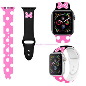 Mickey Mouse Silicone Minnie  Band Strap For iWatch Apple Series 6 5 4 3 2 1 SE