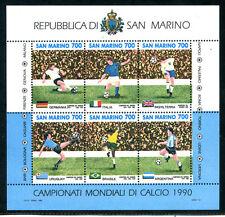 1990 - LOTTO/8103 - SAN MARINO - CALCIO ITALIA 90 - FOGLIETTO