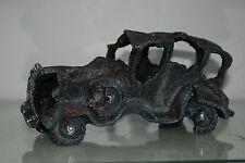 Aquarium Old Vintage Rusty Car Wreck Decoration 28 x 11 x 10 cms