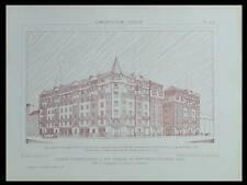 MONTREUIL, GROUPE EDOUARD VAILLANT -1928- PLANCHES ARCHITECTURE- HBM, NANQUETTE