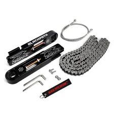 04-05 Suzuki GSXR 600 750 Swing Arm Extensions + SS Brake Line +Silver Chain Kit
