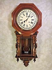Gustav Becker Walnut Calendar Wall Clock Running? Striking?  Korean 31 Day Mvmt