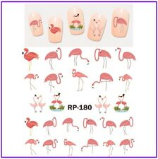 Nail Art Water Decals Transfers Stickers Summer Pink Flamingos Flamingo (RP180)