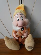 HAPPY DWARF large beanie soft toy plush SNOW WHITE Disney Store Exclusive beaver