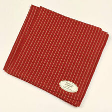 Indian Summer Brown Rust Striped 100% Cotton Napkins Set of 4
