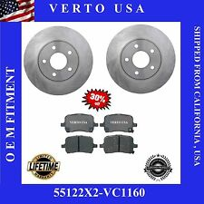 Set of 2  Front Brake Rotors & Ceramic Pads fits 06-11 Chevrolet HHR