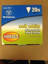 12 WESTINGHOUSE 37914 CFL 20 WATT DIMMABLE R40 SOFT WHITE 2700K FLOOD BULB