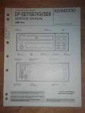 Kenwood Service Manual~DP-SE7(G)/SE9 CD Compact Disc Player~HM-701/901