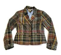 Tommy Hilfiger Plaid Blazer Multicolor Jacket Chambray Lined Women's Size 10