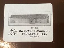 """Sn3 / S Scale """"D&RGW Car Repair Barn"""" by FinestKind Models"""