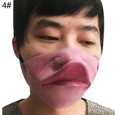 Funny Half Face Fat Lip Mask Grumpy Gurn Mouth Lips Fancy Party Masks