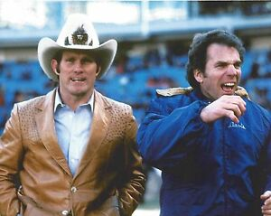 TERRY BRADSHAW & ROGER STAUBACH 8X10 PHOTO PITTSBURGH STEELERS PICTURE FOOTBALL