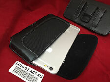 HORIZONTAL BLACK LEATHER CASE BELT CLIP POUCH CARRY HOLSTER FOR IPHONE SE 5S 5C