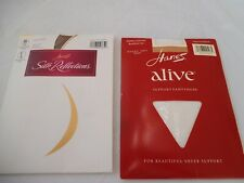 LOT (2) HANES CONTROL TOP SUPPORT PANTYHOSE PLUS SIZE EF FREE SHIPPING