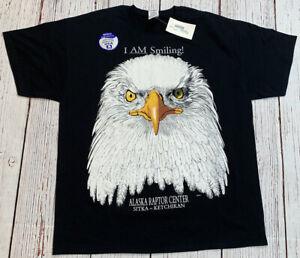 NWT'S Alaska Raptor Sitka-Ketchikan Bald Eagle T-Shirt Men's SZ XL Huge Print