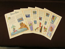 PETER PAN Postal Commemorative ILLUSTRATED STAMP 7 STORY SET 1990 Six Full Pages