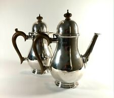 More details for elegant antique solid silver sterling cafe au lait pots coffee pot contemporary
