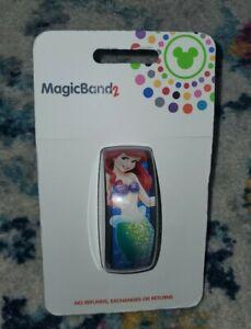 NEW Disney Parks Magic Band 2 ARIEL Little Mermaid Flounder LINKABLE RARE