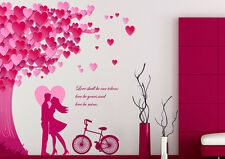 6900032 | Wall Stickers Valentines Day Heart Leaves Quote with Bicycle